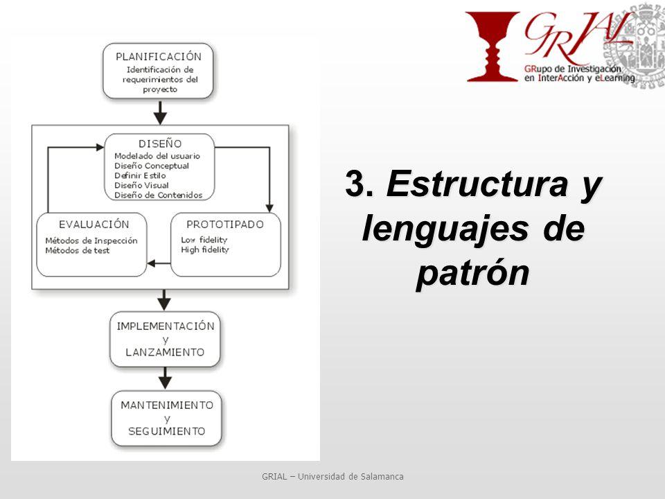 3. Estructura y lenguajes de patrón GRIAL – Universidad de Salamanca