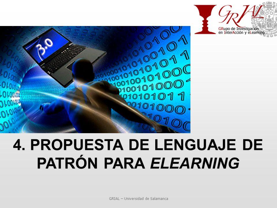4. PROPUESTA DE LENGUAJE DE PATRÓN PARA ELEARNING GRIAL – Universidad de Salamanca