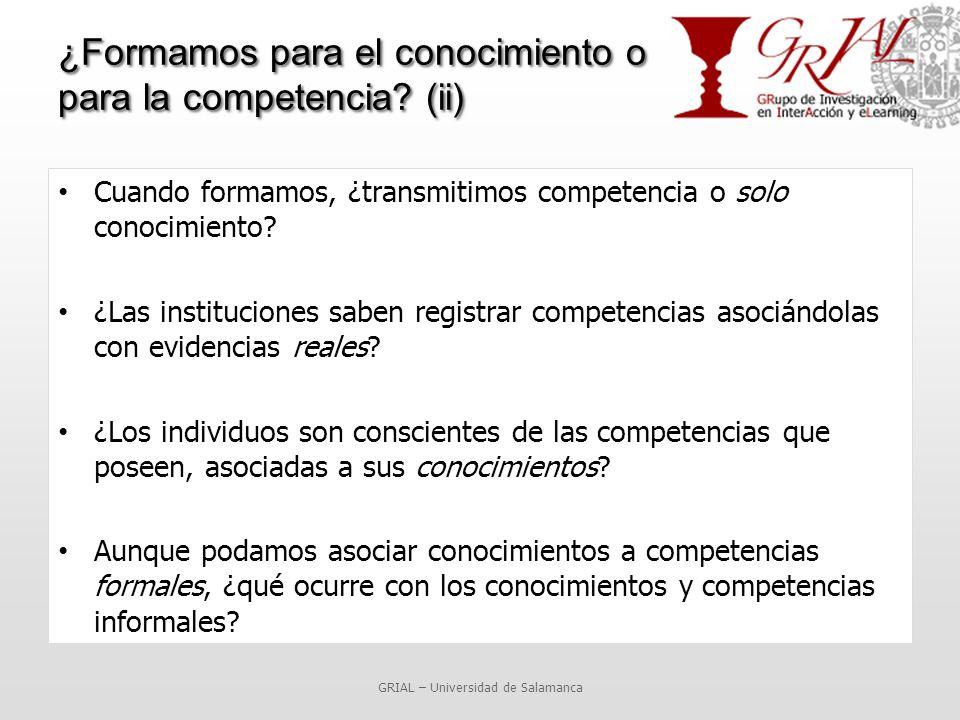 ¿Formamos para el conocimiento o para la competencia.