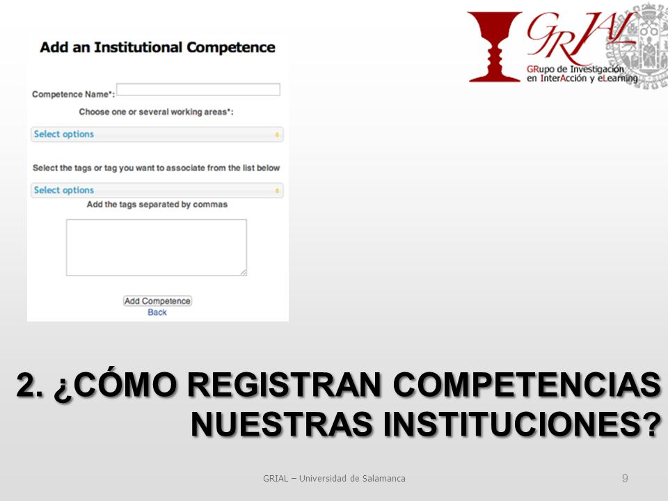 9 2. ¿CÓMO REGISTRAN COMPETENCIAS NUESTRAS INSTITUCIONES