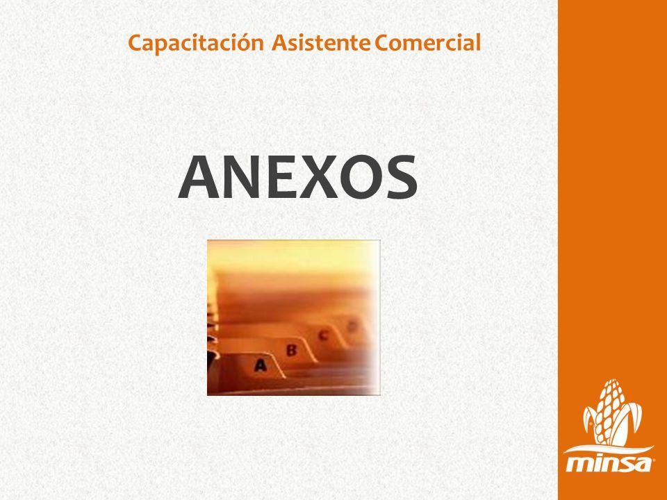 Capacitación Asistente Comercial ANEXOS