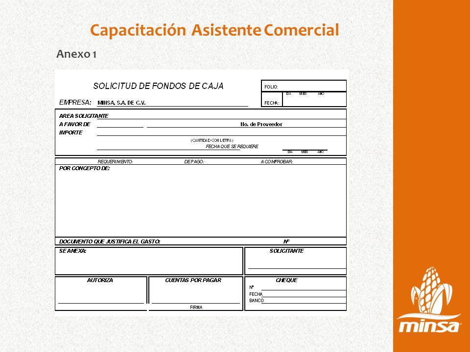 Capacitación Asistente Comercial Anexo 1