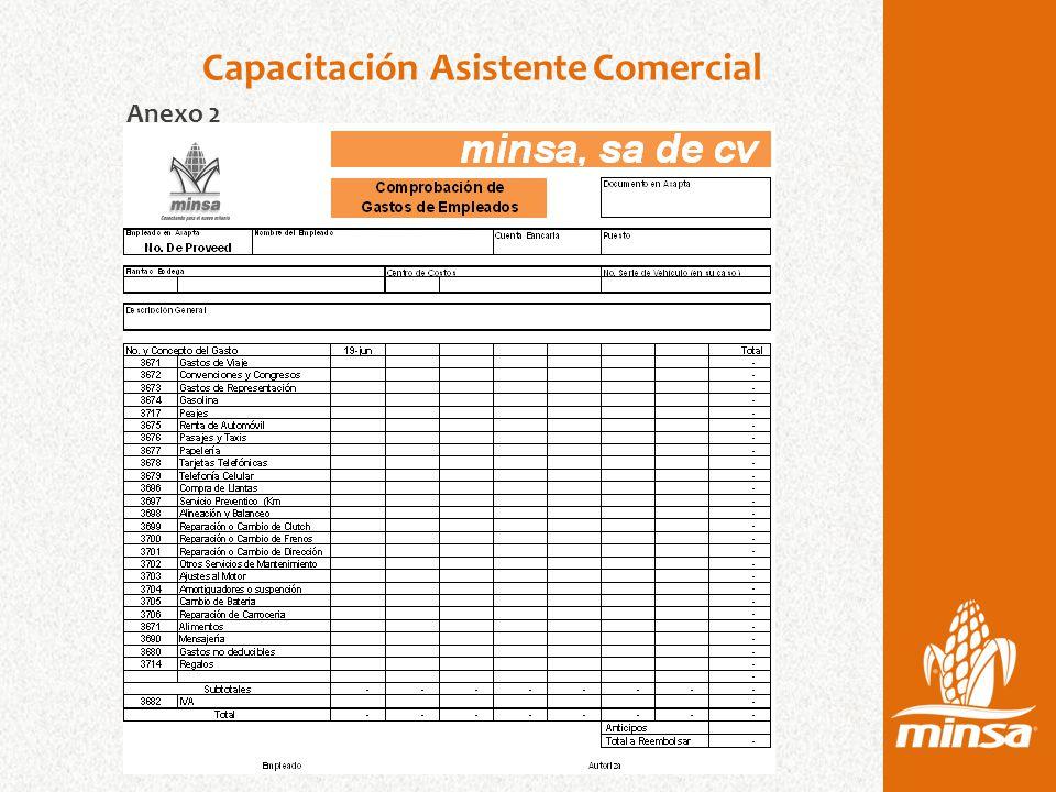 Capacitación Asistente Comercial Anexo 2