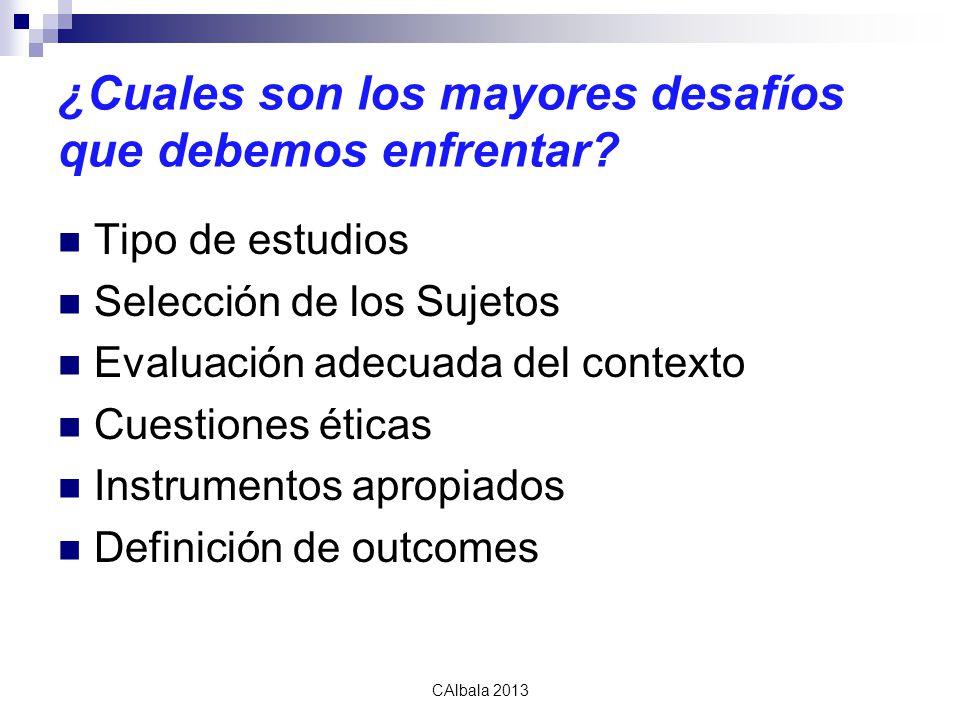 calbala2010 ¿Cuales son los mayores desafíos que debemos enfrentar.