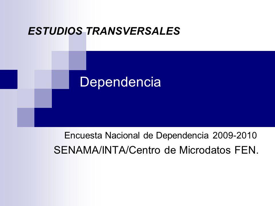 Dependencia Encuesta Nacional de Dependencia 2009-2010 SENAMA/INTA/Centro de Microdatos FEN.