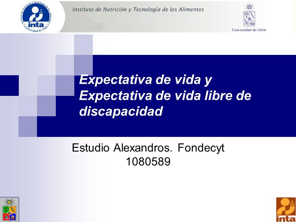 Expectativa de vida y Expectativa de vida libre de discapacidad Estudio Alexandros.