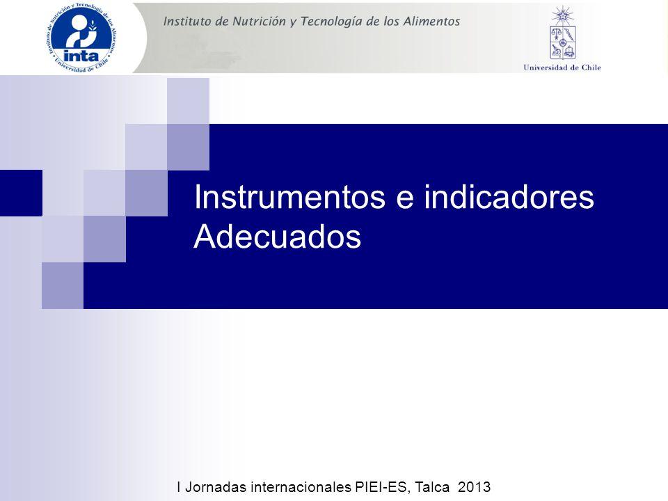Instrumentos e indicadores Adecuados I Jornadas internacionales PIEI-ES, Talca 2013