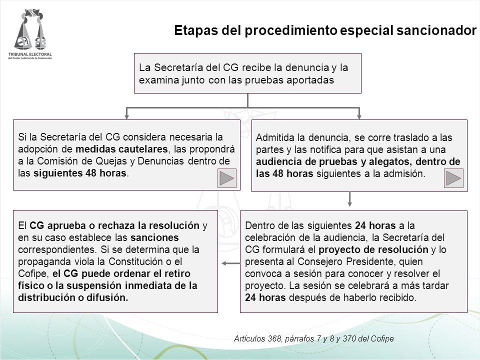 El CG aprueba o rechaza la resolución y en su caso establece las sanciones correspondientes.