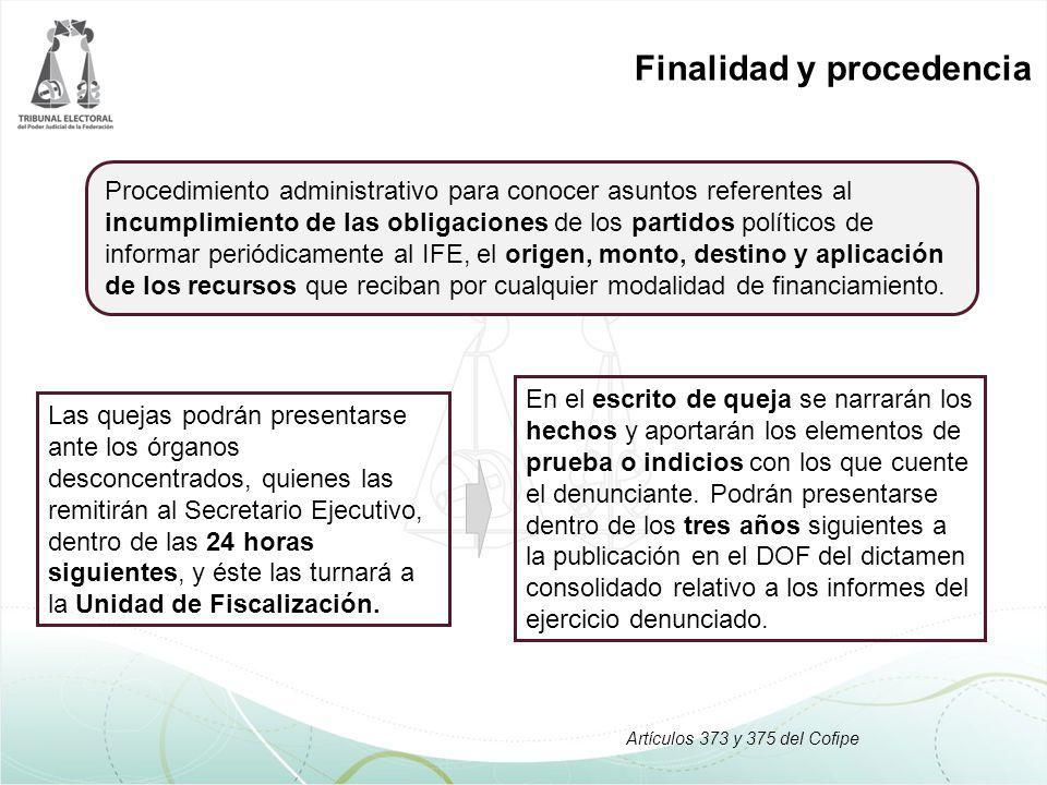 Finalidad y procedencia En el escrito de queja se narrarán los hechos y aportarán los elementos de prueba o indicios con los que cuente el denunciante.