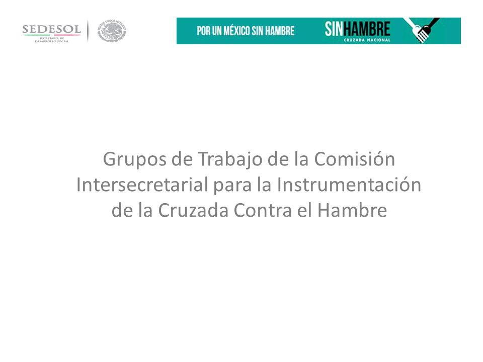 Grupos de Trabajo de la Comisión Intersecretarial para la Instrumentación de la Cruzada Contra el Hambre