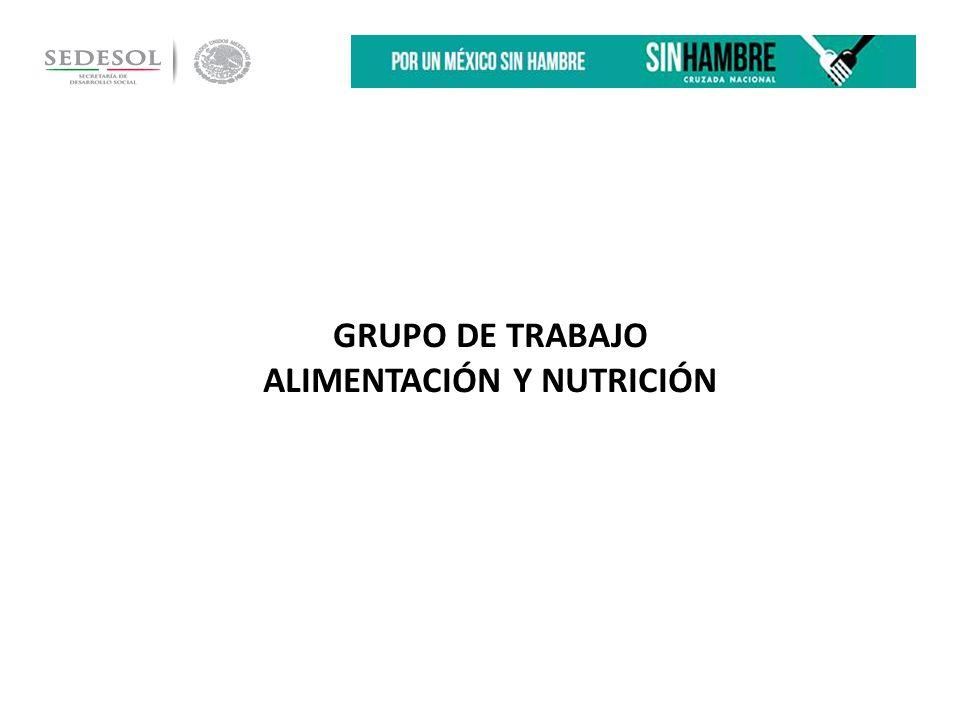 GRUPO DE TRABAJO ALIMENTACIÓN Y NUTRICIÓN