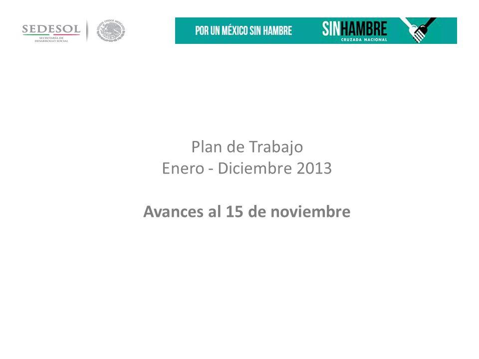 Plan de Trabajo Enero - Diciembre 2013 Avances al 15 de noviembre