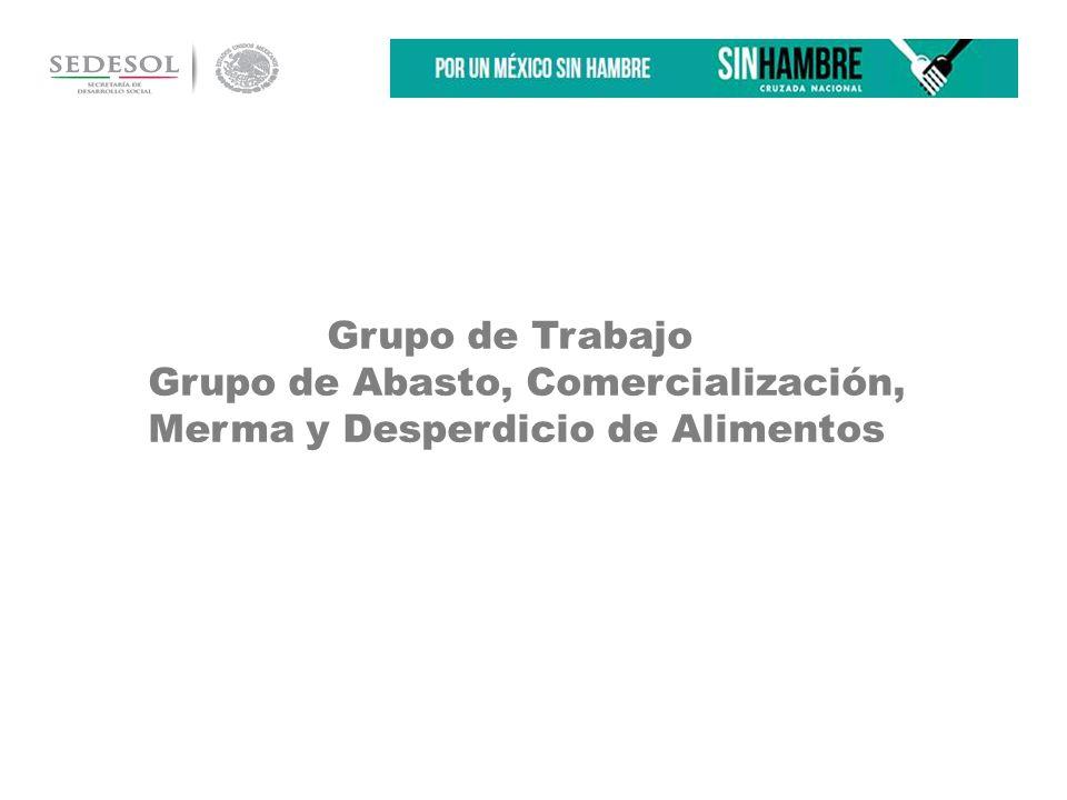 Grupo de Trabajo Grupo de Abasto, Comercialización, Merma y Desperdicio de Alimentos …