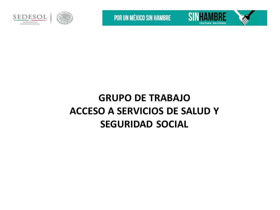 GRUPO DE TRABAJO ACCESO A SERVICIOS DE SALUD Y SEGURIDAD SOCIAL