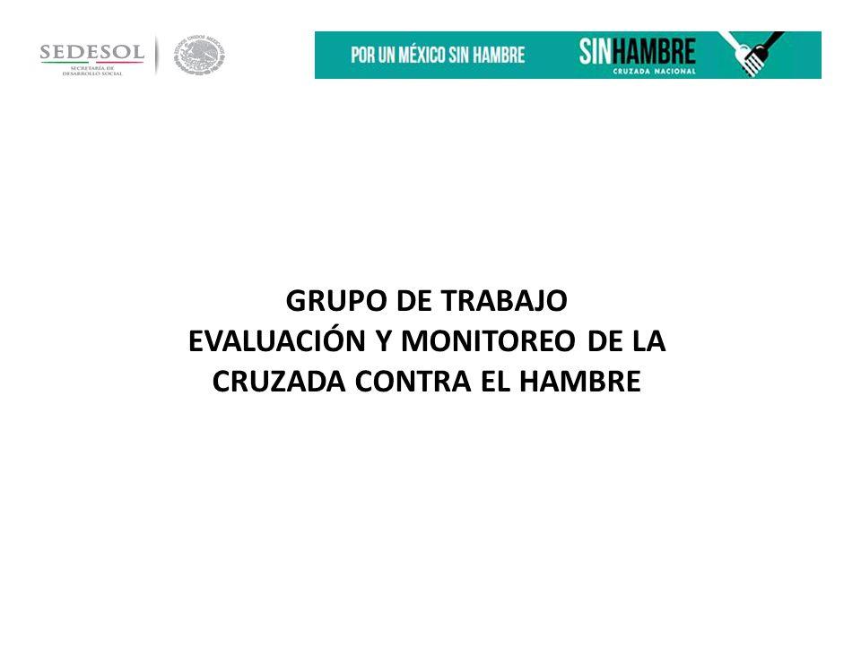 GRUPO DE TRABAJO EVALUACIÓN Y MONITOREO DE LA CRUZADA CONTRA EL HAMBRE