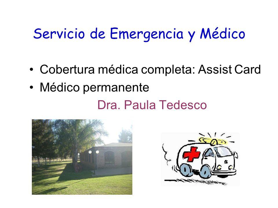 Servicio de Emergencia y Médico Cobertura médica completa: Assist Card Médico permanente Dra.