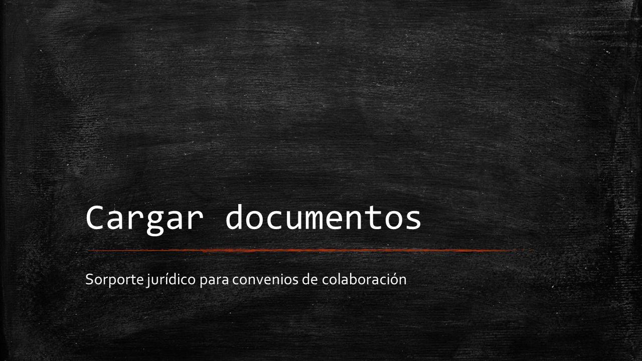 Sorporte jurídico para convenios de colaboración