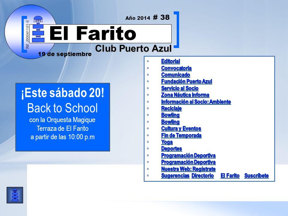Rif: J00041181-6 Club Puerto Azul El Farito ¡Este sábado 20.