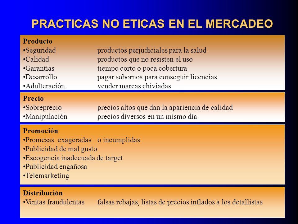 ENCUENTRO DE VOLUNTADES NO SE OCULTA INFORMACION NO HAY MANIPULACION NO HAY UN USO EXCESIVO DE PODER MARKETING ETICO