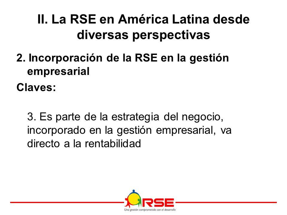 II. La RSE en América Latina desde diversas perspectivas 2.