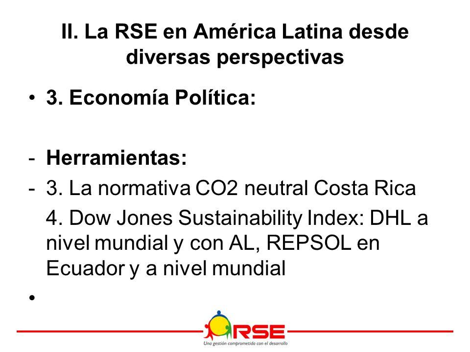 3. Economía Política: -Herramientas: -3. La normativa CO2 neutral Costa Rica 4.