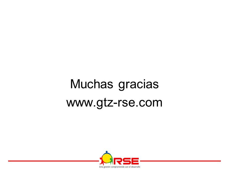 Muchas gracias www.gtz-rse.com