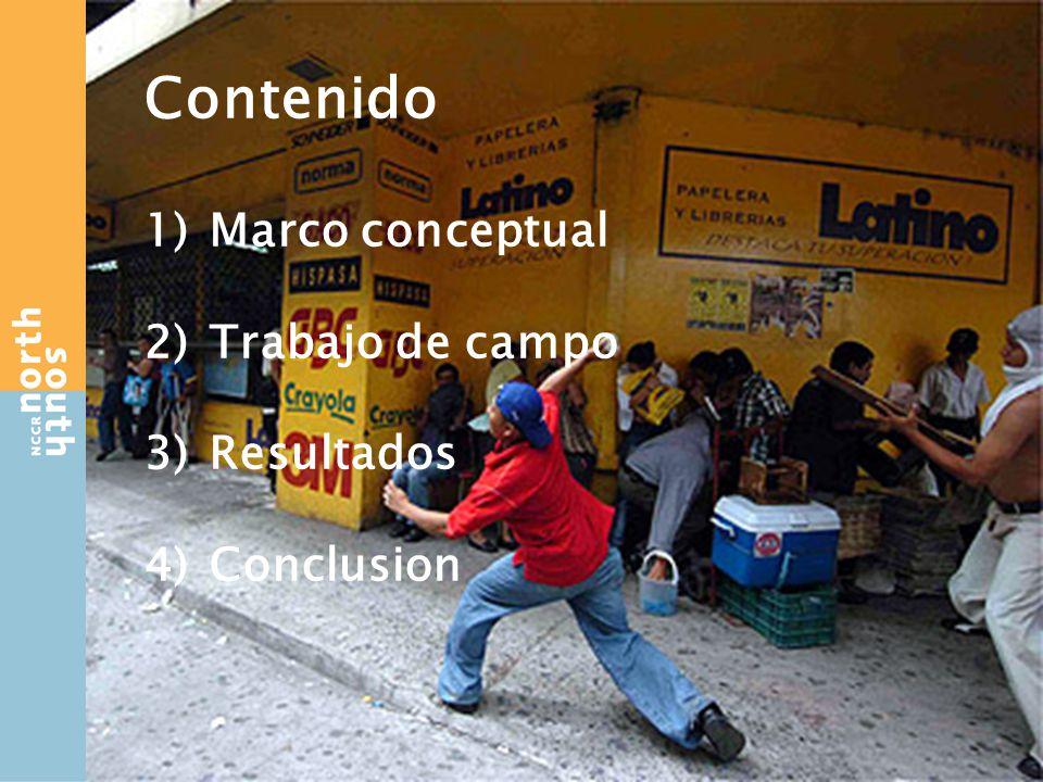 Contenido 1)Marco conceptual 2)Trabajo de campo 3)Resultados 4)Conclusion