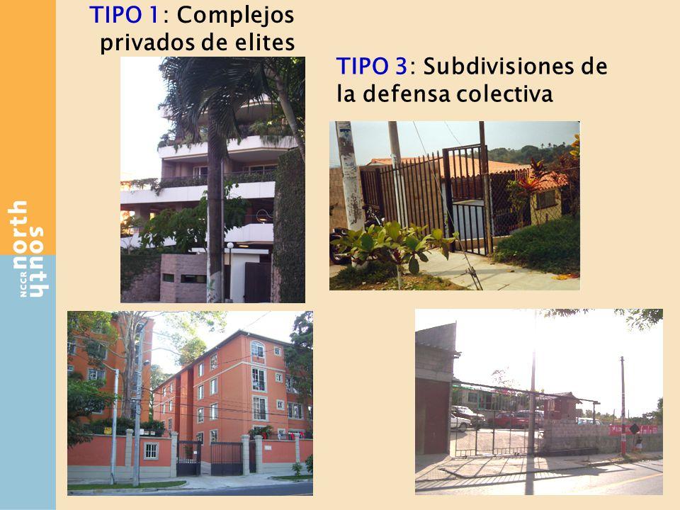 TIPO 1: Complejos privados de elites TIPO 3: Subdivisiones de la defensa colectiva