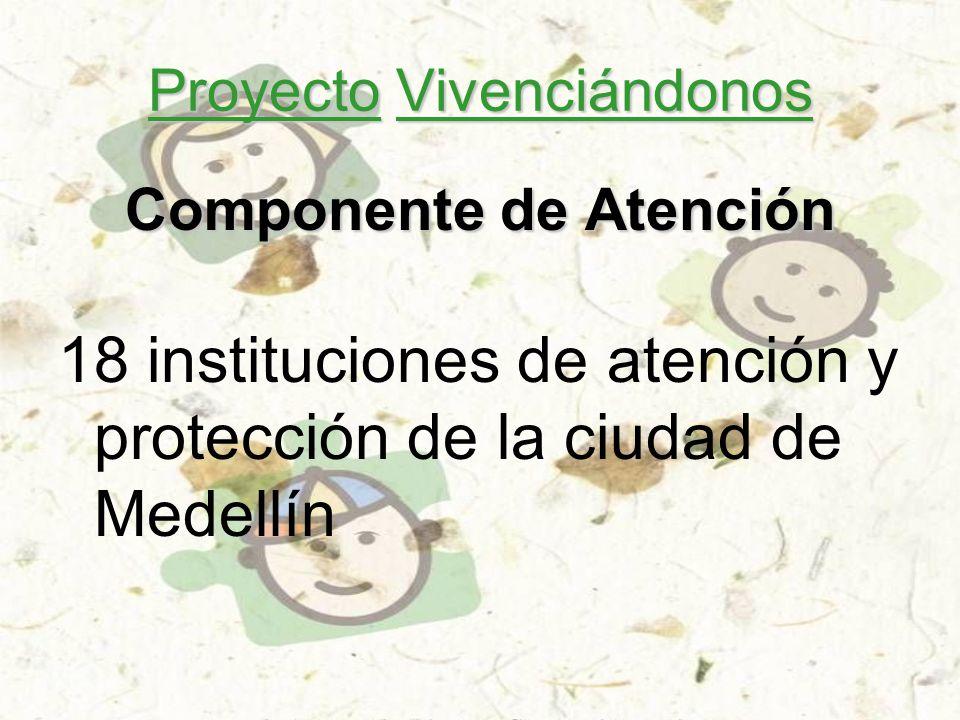 Proyecto Vivenciándonos Componente de Atención 18 instituciones de atención y protección de la ciudad de Medellín