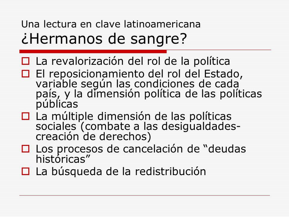 Una lectura en clave latinoamericana ¿Hermanos de sangre.