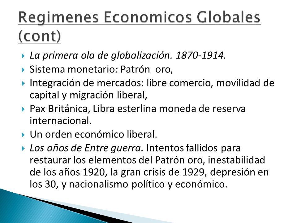  La primera ola de globalización. 1870-1914.
