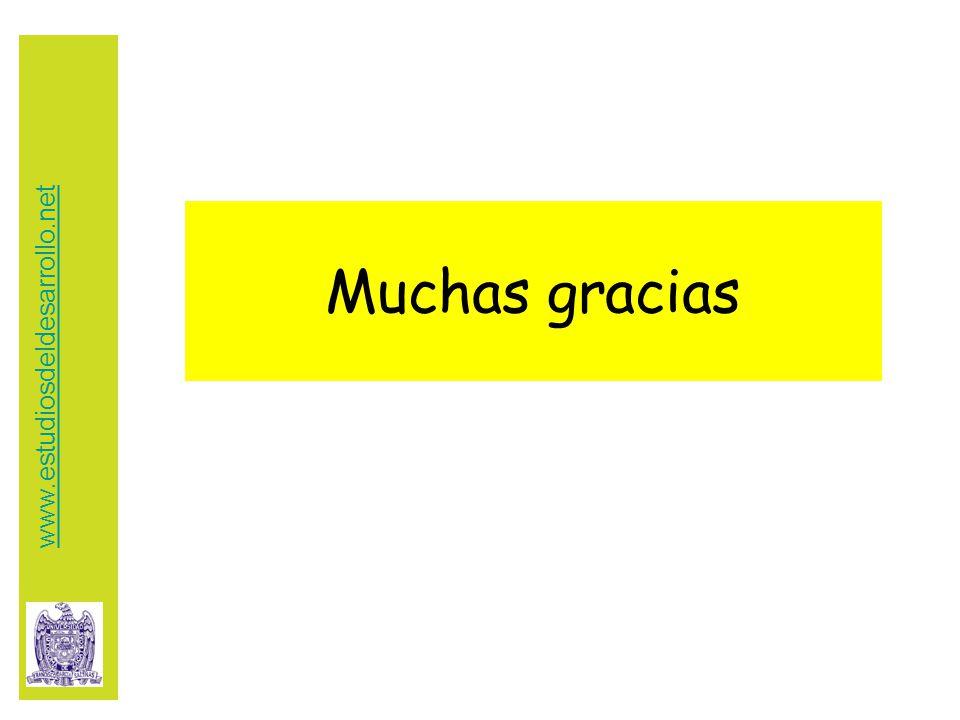 Muchas gracias www.estudiosdeldesarrollo.net