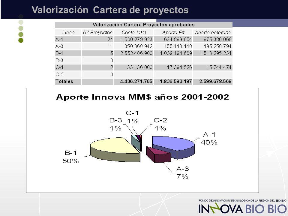 Valorización Cartera de proyectos