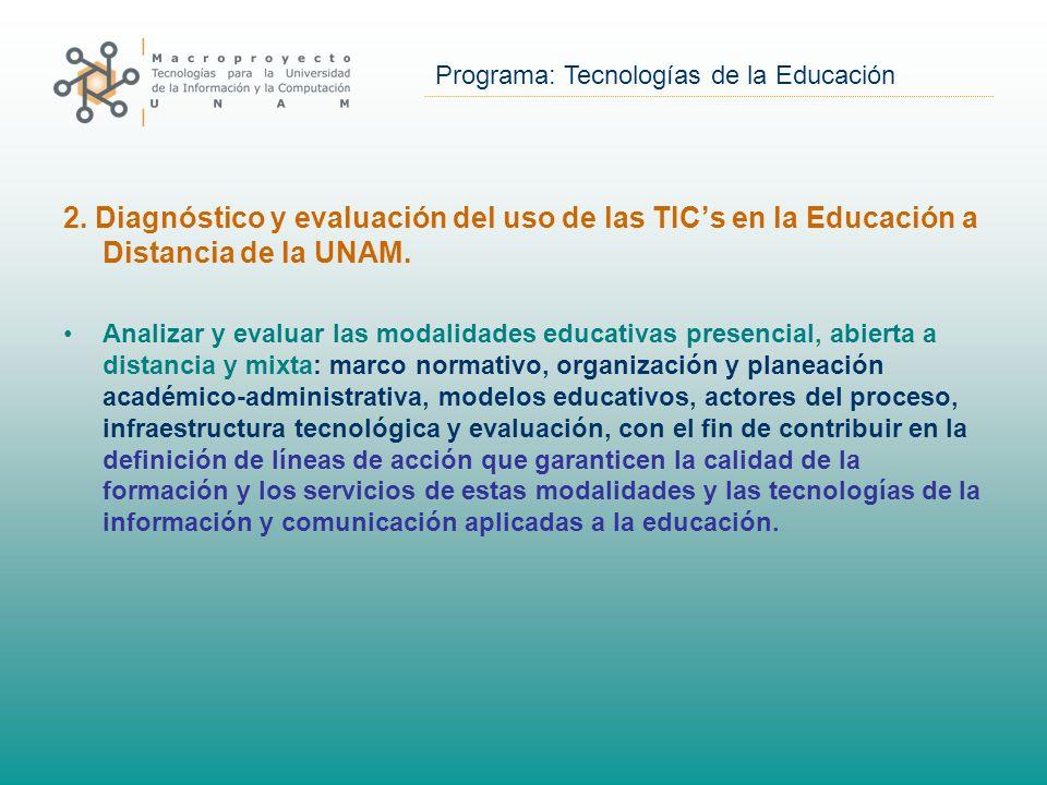 Programa: Tecnologías de la Educación 2.