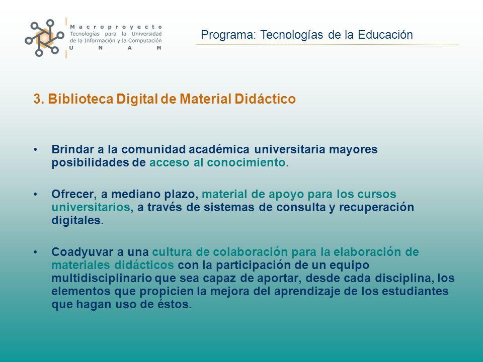 Programa: Tecnologías de la Educación 3.