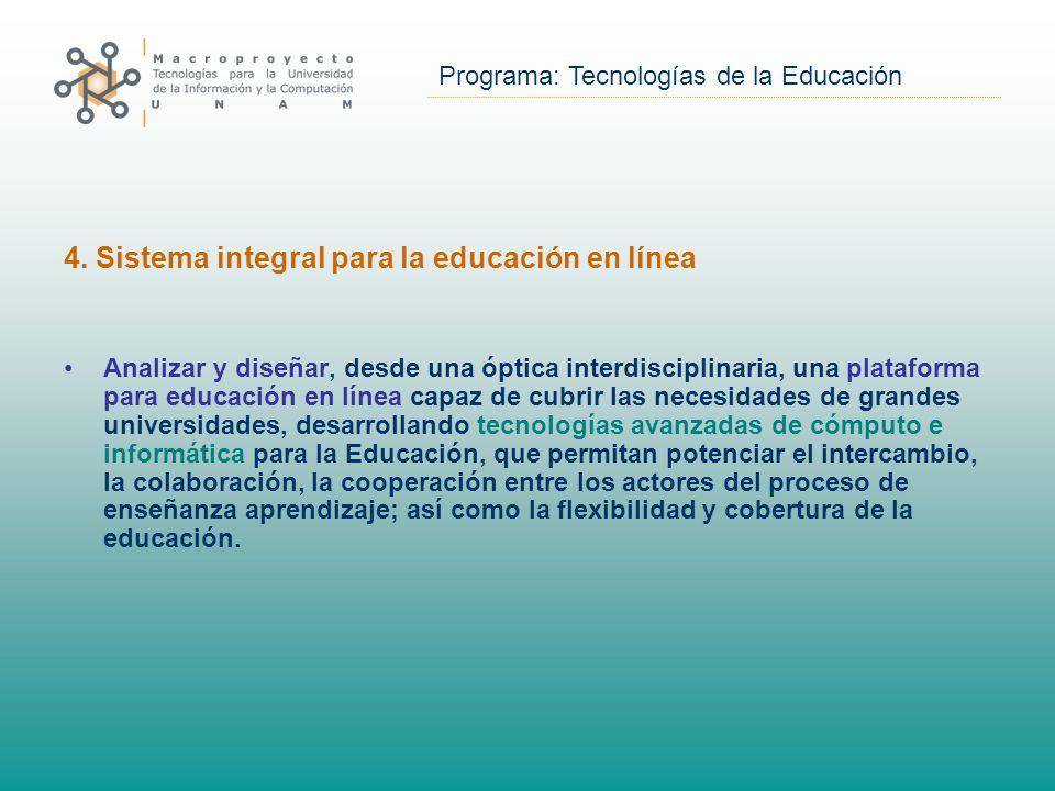 Programa: Tecnologías de la Educación 4.