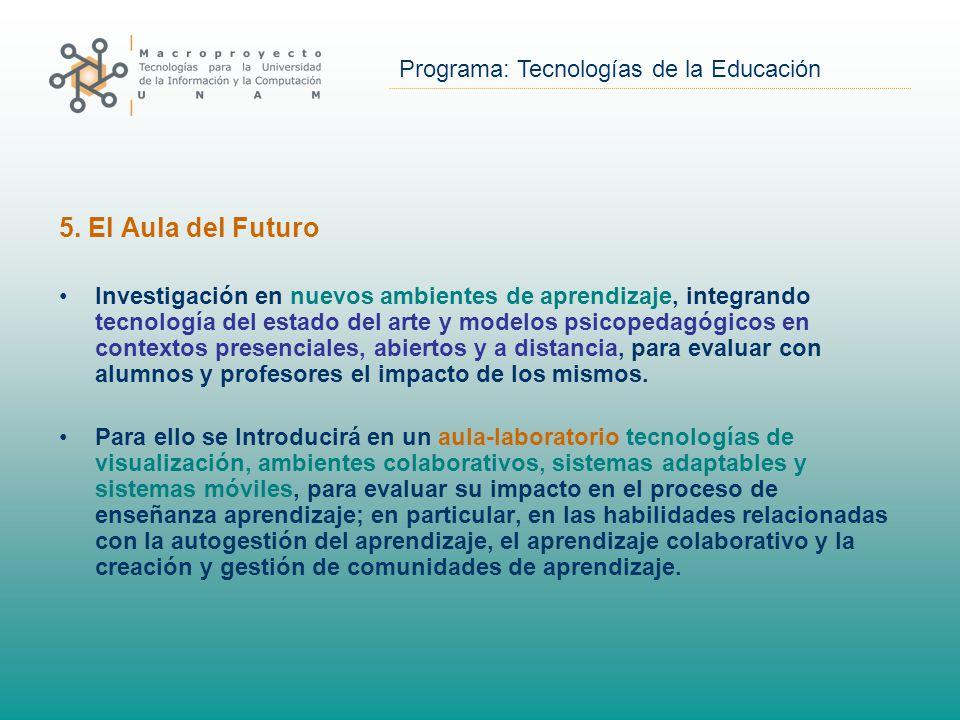 Programa: Tecnologías de la Educación 5.