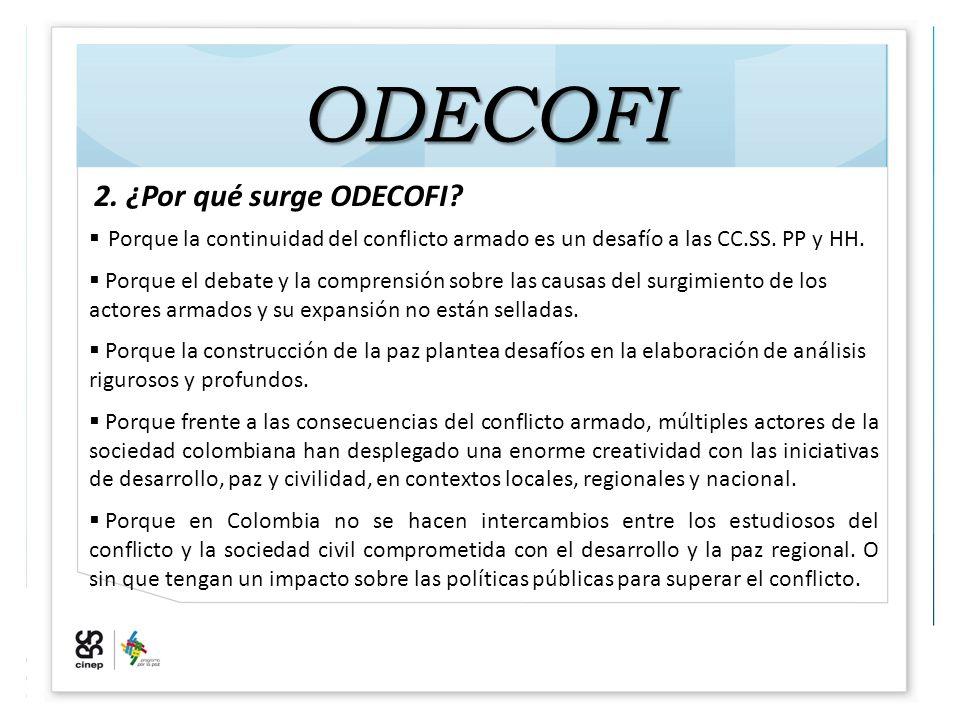 ODECOFI 2. ¿Por qué surge ODECOFI.