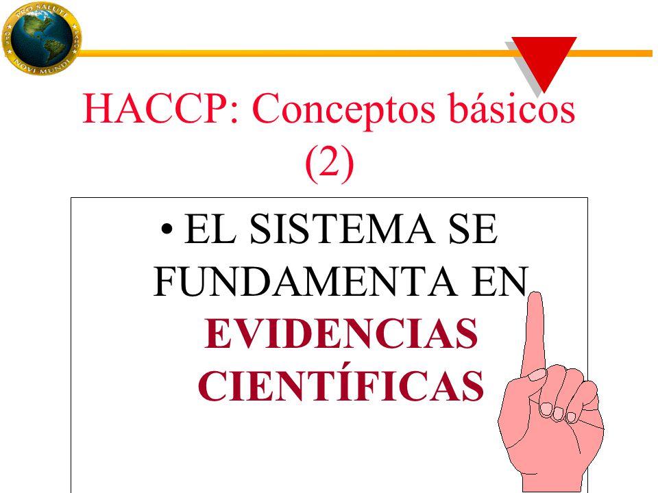 HACCP: Conceptos básicos (2) EL SISTEMA SE FUNDAMENTA EN EVIDENCIAS CIENTÍFICAS