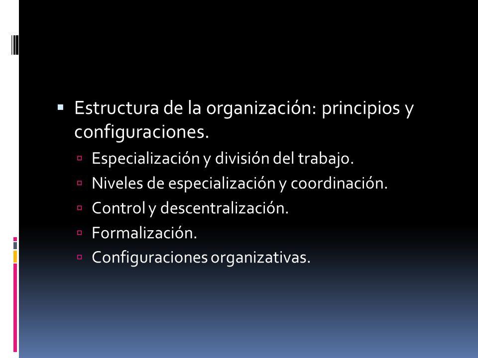  Estructura de la organización: principios y configuraciones.