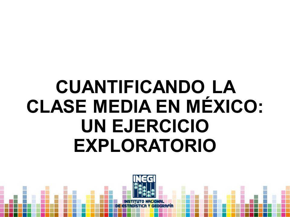 CUANTIFICANDO LA CLASE MEDIA EN MÉXICO: UN EJERCICIO EXPLORATORIO