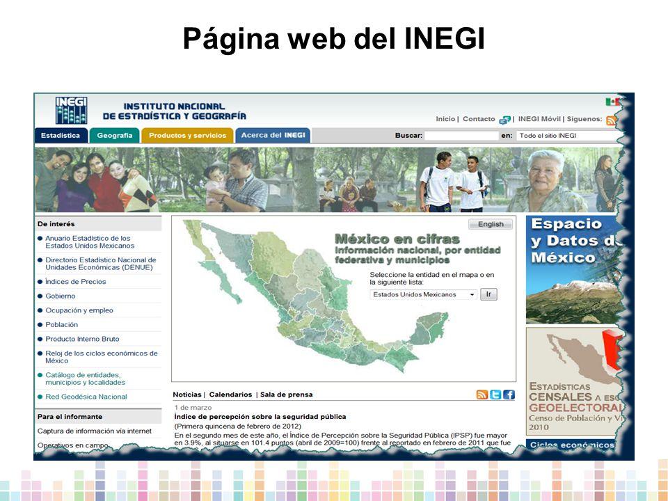 Página web del INEGI