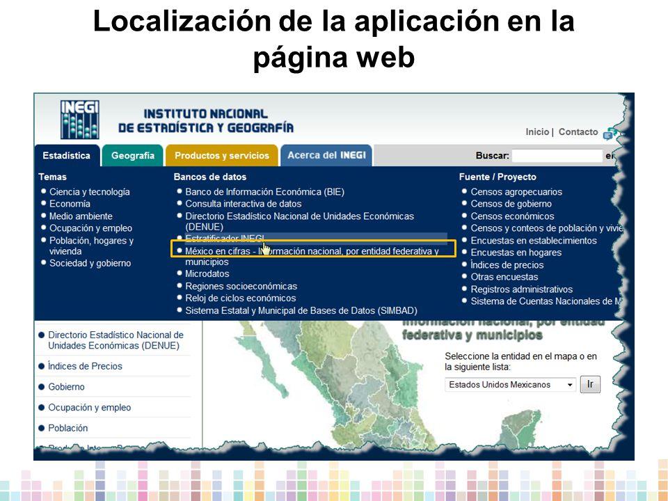 Localización de la aplicación en la página web
