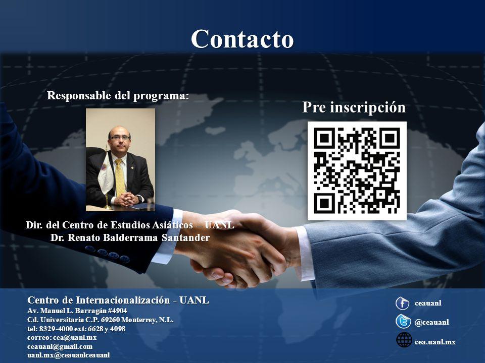 Contacto Dir. del Centro de Estudios Asiáticos – UANL Dr.