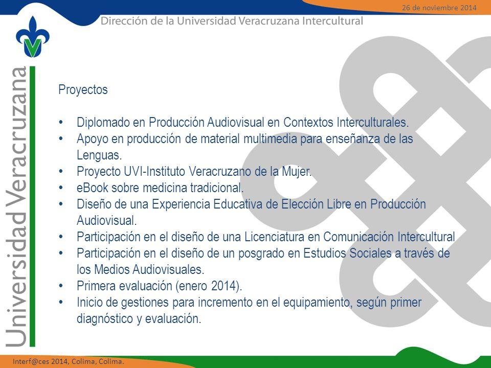 Proyectos Diplomado en Producción Audiovisual en Contextos Interculturales.