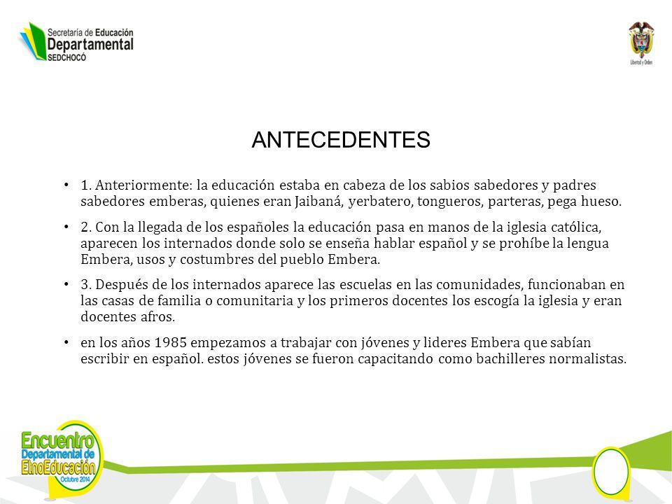 ANTECEDENTES 1.