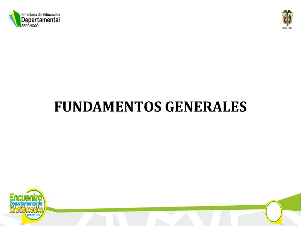 FUNDAMENTOS GENERALES