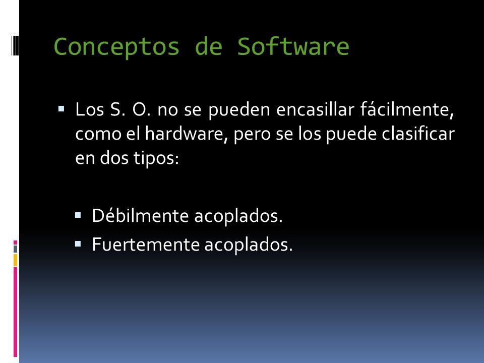 Conceptos de Software  Los S. O.