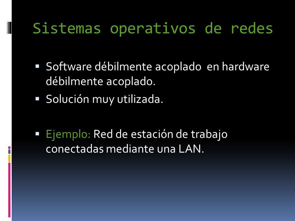 Sistemas operativos de redes  Software débilmente acoplado en hardware débilmente acoplado.