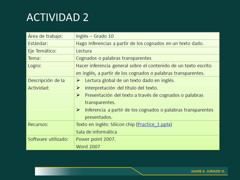 JAIME A. JURADO N. ACTIVIDAD 2